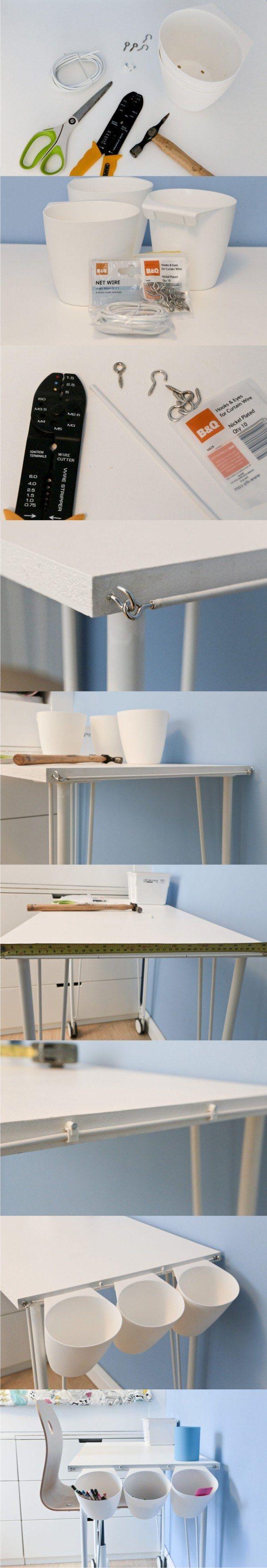 ikeahack para organizar el escritorio - Vía maligno.com