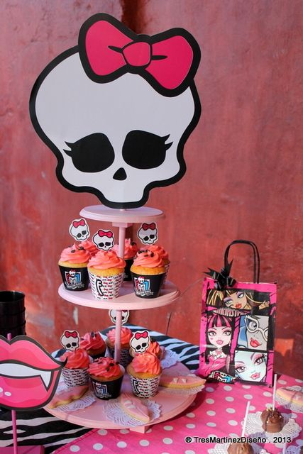 Monster High Birthday Party Ideas!  See more party ideas at CatchMyParty.com!