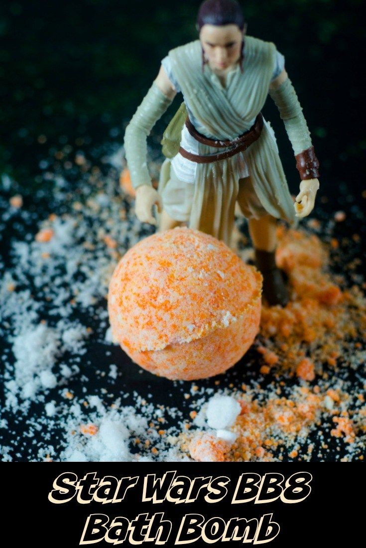 Bath Bomb Recipe – Star Wars BB8 ThemeAreyou or someone you know a Star Wars fan? If so you can make this bath bomb recipe as a BB8 theme. If they're not a Star Wars fan that's okay too the colors (orange & white) used in this bath bomb recipe make it easy to use for any theme, spring, summer, baby shower, wedding and more! #bathbomb #diy #essentialoils #spagifts #spa #bath #bathtime