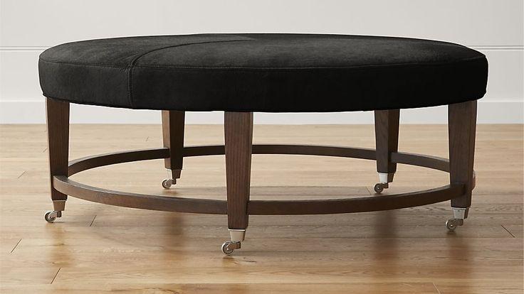 Best 25 Black leather ottoman ideas on Pinterest Black  : d77b84c563dd6f5e0bc9493f65f964cf round leather ottoman leather footstool from www.pinterest.com size 736 x 414 jpeg 35kB