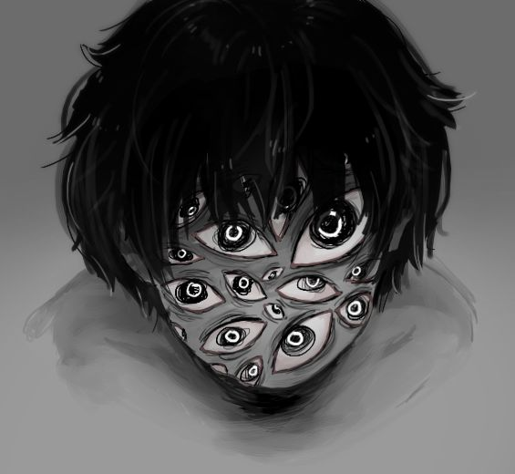 how to draw creepy eyes