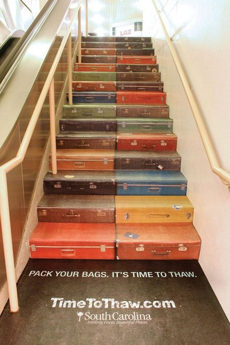 Suitcase stairs.