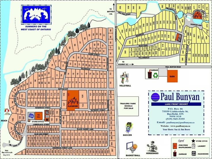Park Map of Paul Bunyan Lake Front Resort
