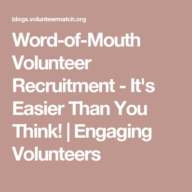 Premise Indicator Words: Word-of-Mouth Volunteer Recruitment