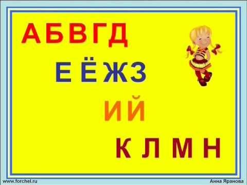 Поем алфавит. Запоминайка / Russian alphabet song. Наше_всё! - YouTube
