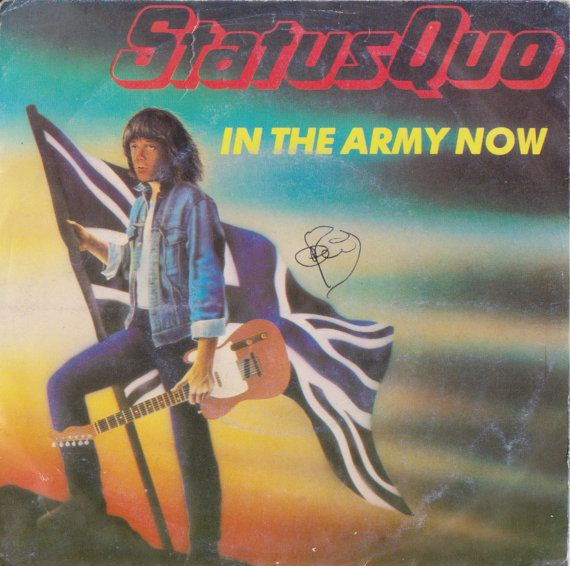 """STATUS QUO In The Army Now 1986 Portugal Issue Rare 7"""" 45 rpm Vinyl Single Record Rock Pop Blues 80s 8880567 Free S&h"""