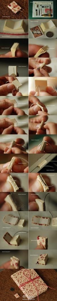 Miniature bookbinding