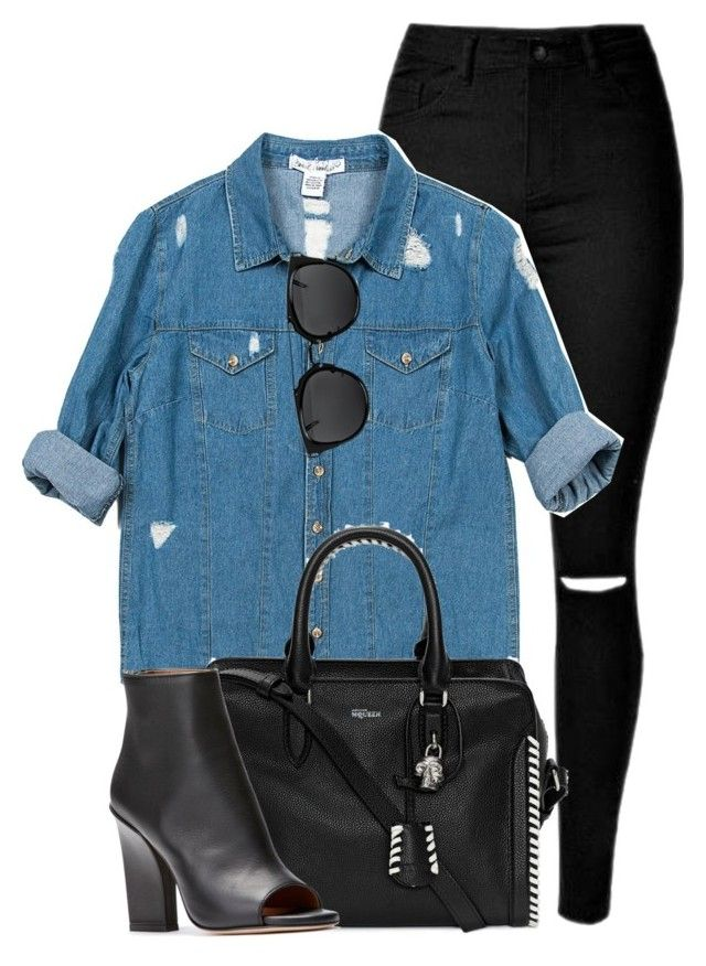 What I'd Wear by monmondefou on Polyvore featuring polyvore fashion style Sans Souci Alexander McQueen clothing