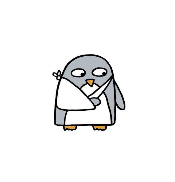 krijg nou kaart gebroken arm penguin gebroken pols
