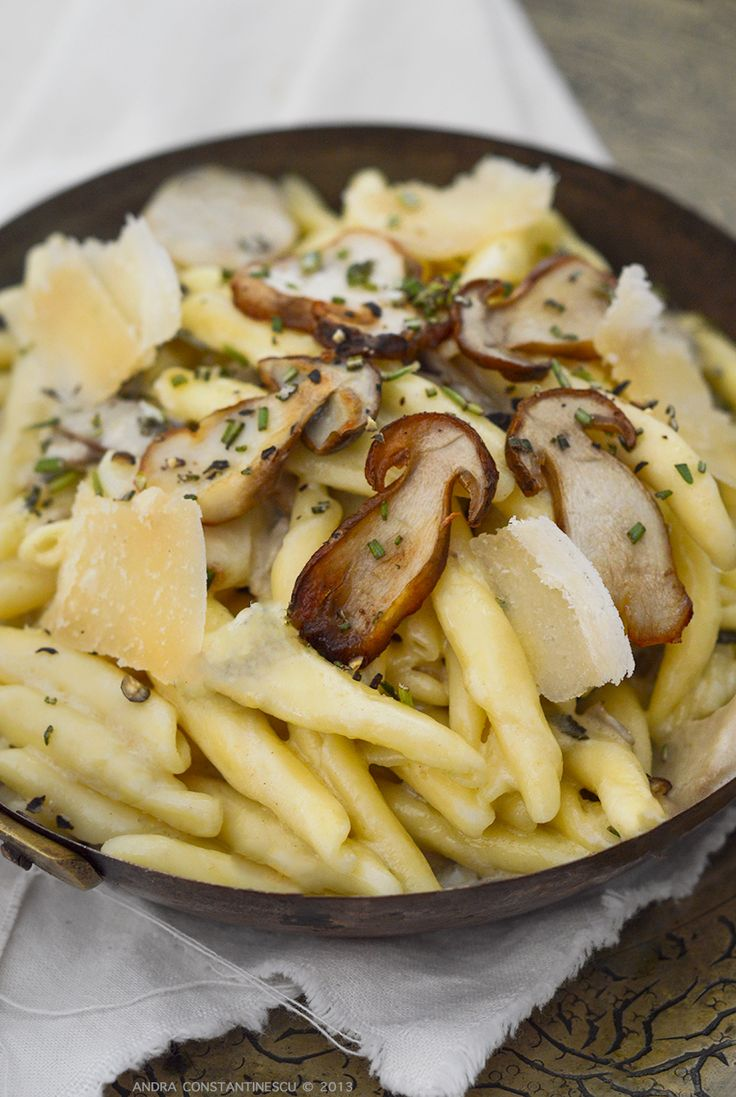 Porcini Mushroom Pasta with Sage and Rosemary