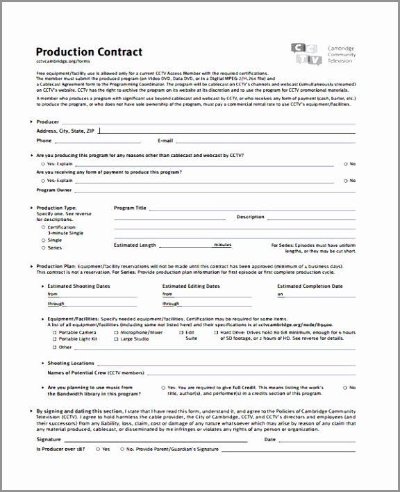 Video Production Contract Template Luxury 5 Video Production Contract Template Ereoy Contract Template Templates Contract