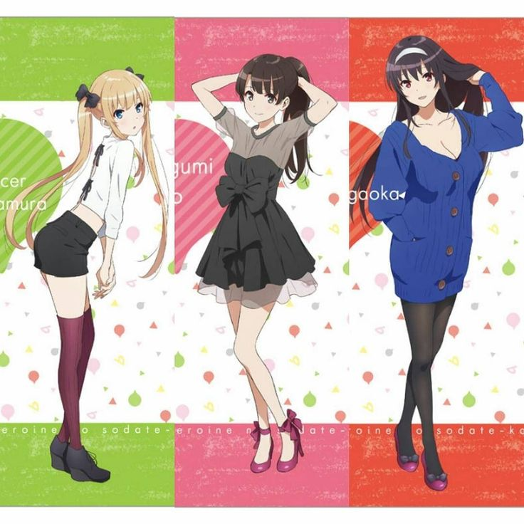 Saenai Heroine No Sodatekata Flat New character designs by A-1 Pictures. Apparently these were A4 sized clear files. You can probably still buy them at auctions. http://ift.tt/2lXdNuv