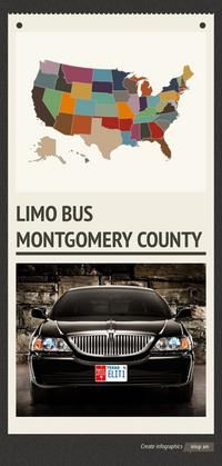 Infographic:  limo bus Montgomery County - To get best limo services and bus in philadelphia. Find now at very lowest prices.