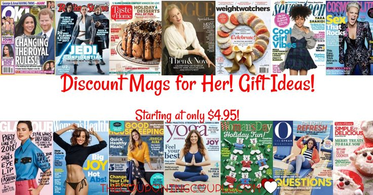 Looking for an easy gift for her? Check out the Discount Mags Sale for Her! Fashion Mags! Cooking Mags! Entertainment Mags! And so much more!  Click the link below to get all of the details ► http://www.thecouponingcouple.com/discount-mags-gifts-for-her/ #Coupons #Couponing #CouponCommunity  Visit us at http://www.thecouponingcouple.com for more great posts!