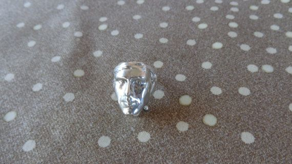 Ancient face carved 925 ring. by ArtisticBreaths on Etsy