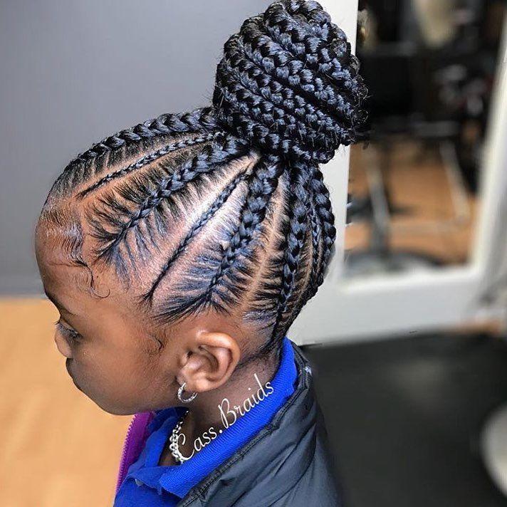 So Adorable Nice And Neat By Orlando Braider Cass Braids Voiceofhair Voiceofhair Com Cornrow Hairstyles Kids Braided Hairstyles African Braids Hairstyles