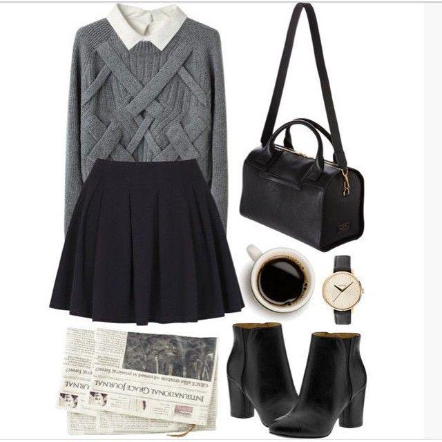El outfit del día para ir a la universidad. #ootd #fashion #Dorival #AmigasDorival