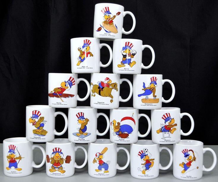 Olympics 1984 Summer Games 15 Coffee Mug Lot USA Sam The Eagle Los Angeles Papel #Olympics #USA #ebayROCteam
