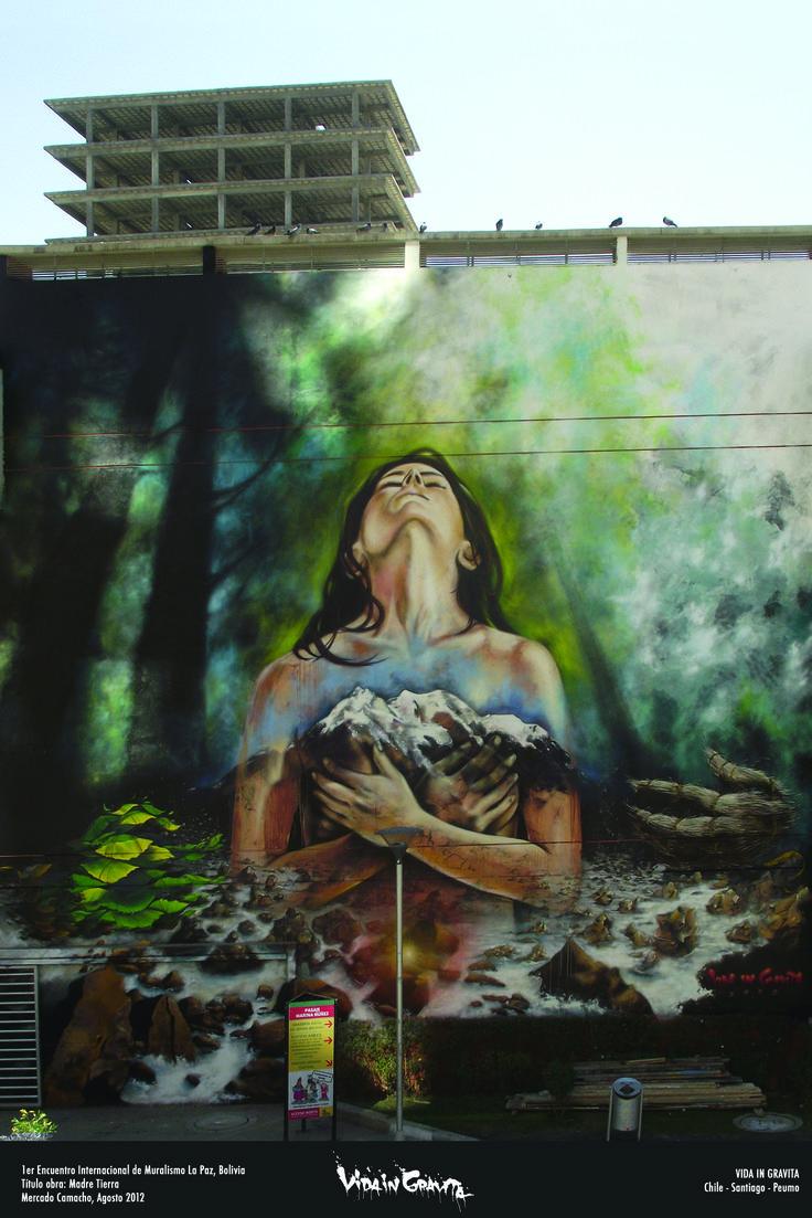 pacha mama  mercado camacho  Bolivia la paz  2012 en el marco del primer encuentro internacional de  arte publico  y muralismo