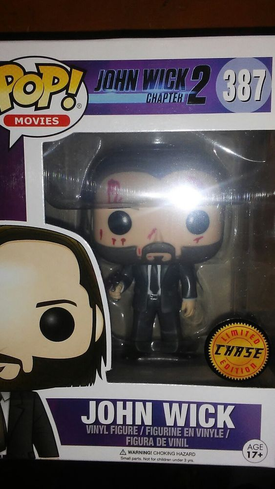 c0fa8209184 Funko 12535 Pop Movies  John Wick Chapter 2 Vinyl Figure  387 CHASE ...