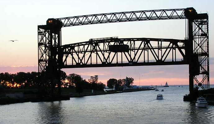 Lift Bridge in Cleveland, Ohio - Lovely!  #cle #216 #bridge #thisiscle