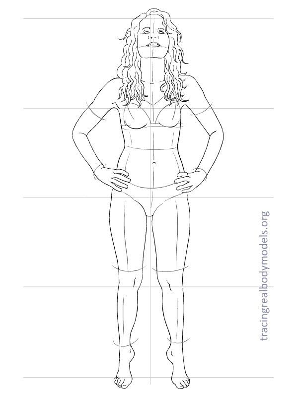6 new real body models, 33 fashion figure templates | Tracing Real Body Models