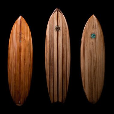 Custom-built surfboards made from eco-friendly materials by Driftwood Surfboards