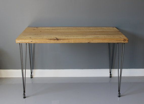 Made to order reclaimed urban wood table desk with by for Table 0 5 ans portneuf