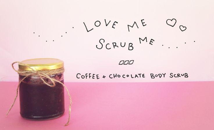 coffee + chocolate scrub.  sounds scrub-scious! too far? too far.