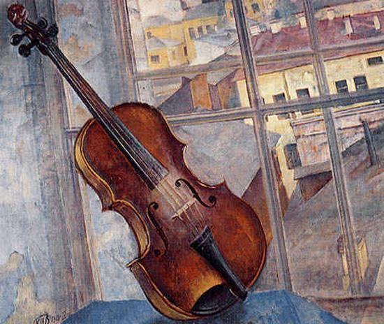 К.Петров-Водкин. Натюрморт со скрипкой. 1918