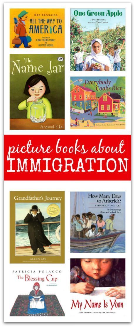 Good collection of books about immigration for kids. -Repinned by Totetude.com