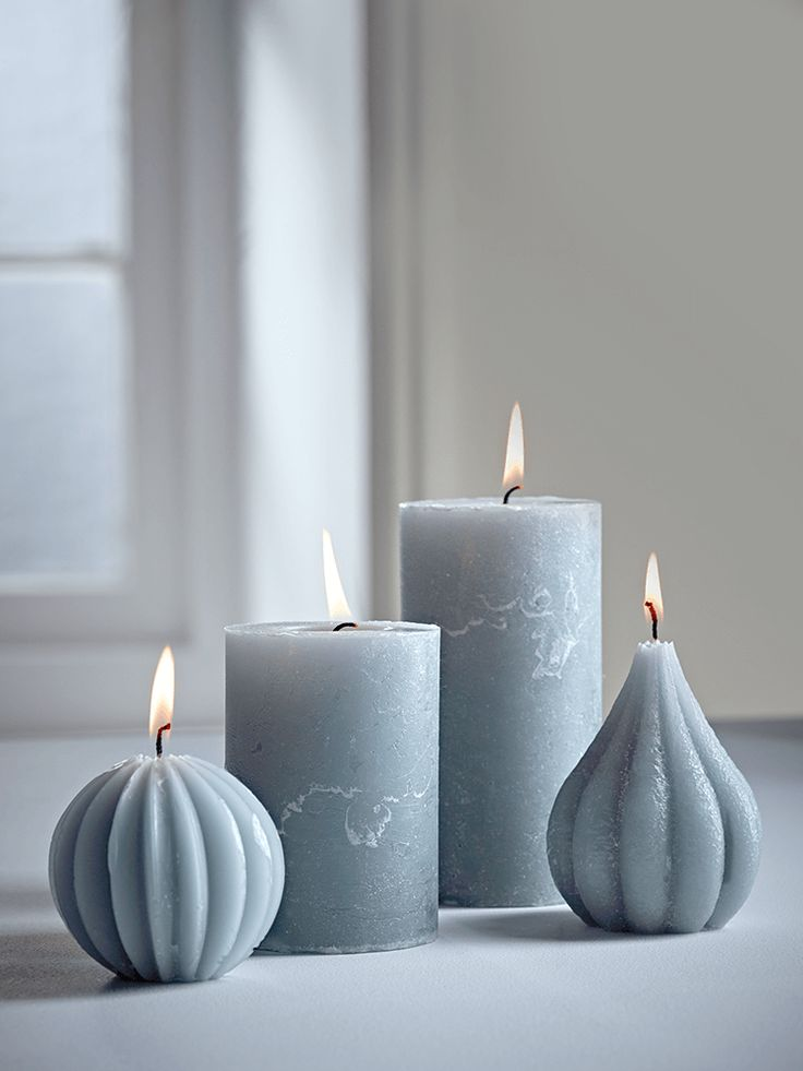 NEW Soft Grey Candles