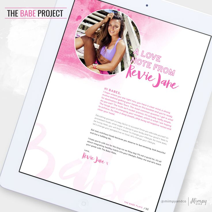 The Babe Plate Ebook Design / Ebook / Layout / Design / Mimpy and Co. / Mimpyandco.com / Online Design