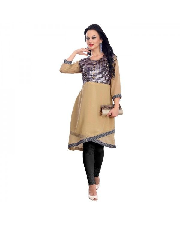 Brown Embroidered Kurti Now @Rs.1,788 55% OFF   Click Here To Buy:- http://www.ethnicstation.com/brown-embroidered-kurti-rc5600  #TrendyKurti #OnlineShopping