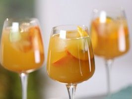 Riesling Sangria with Mango and Nectarine from CookingChannelTV.com