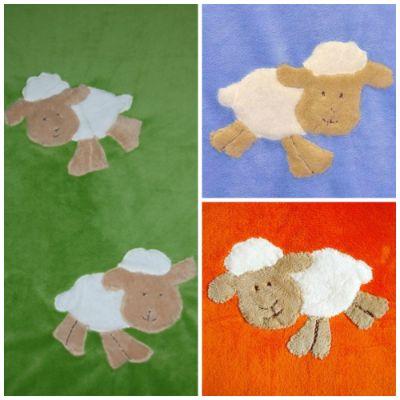 Păturică din fleece pufos (75x100 cm), pentru copii de 0-2 ani.
