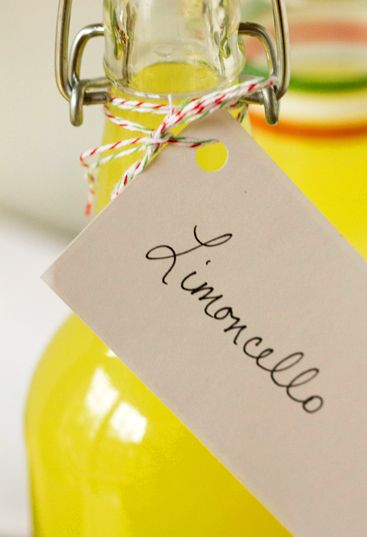 Homemade Limoncello recipe.