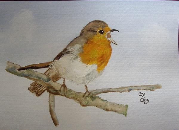 A Christmas Carol watercolour