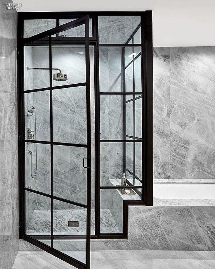 Some shower screen inspo love this -| #bathroom #design #shower by thelittleinterior