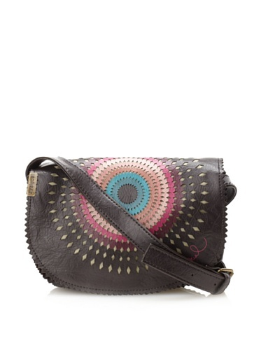 47% OFF Desigual Women's Mini Troquel Shoulder Bag, Chocolate