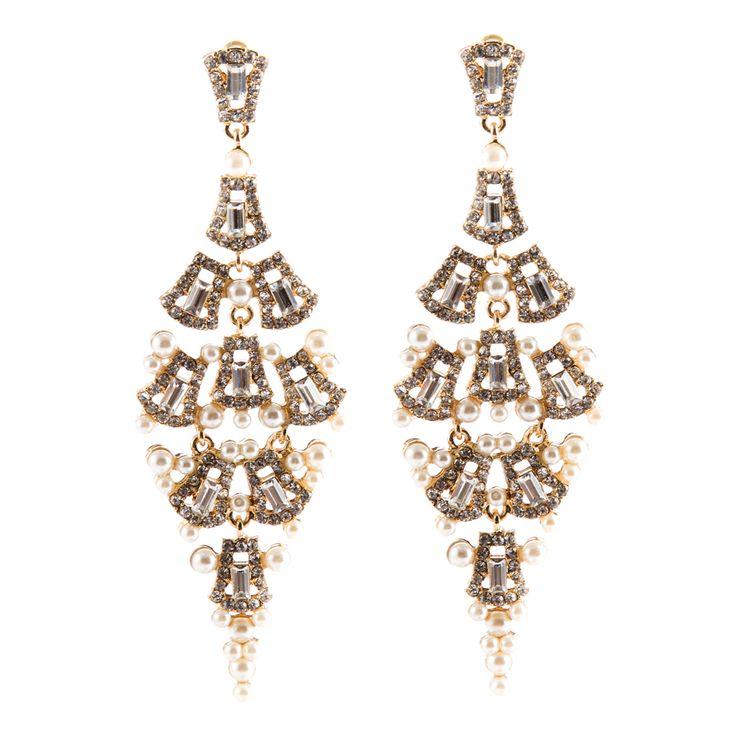 9.7 cm Luxurious Bridal Earrings Bridesmaids Wedding Jewellery Long Chandelier Earrings Brincos Vintage Earings Inspired Brinco