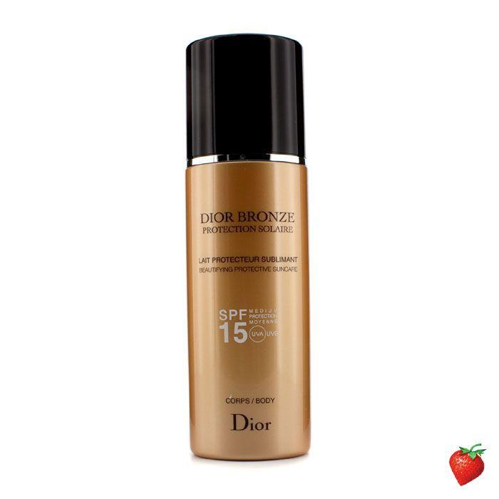 Christian Dior Dior Bronze Lait Sublimant Beautifying Protective Suncare SPF15 200ml/6.7oz #ChristianDior #Skincare #SunScreen #SummerSpecials #Summer #Beach #Beauty #HotPick #FREEShipping #StrawberryNET