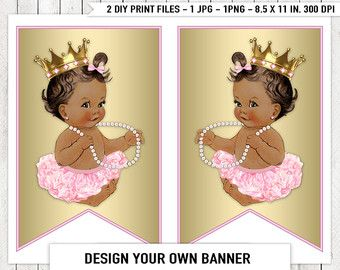 Ethnic African American Princess Pearl Baby by LegendImaging