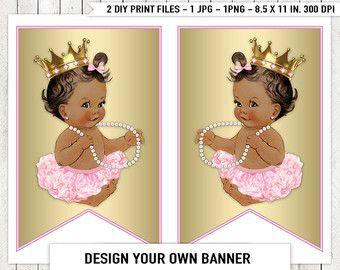 Ethnic African American Princess Pearl Baby by LegendImaging