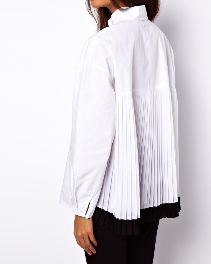 ASOS - Chemise avec pli dans le dos et manches cocon