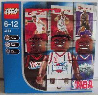 LEGO Sports NBA: Allen Iverson, Steve Francis & Karl Malone by LEGO. $24.40. Contains 10 pieces. Includes 3 NBA figures. Set comes with special Upper Deck trading cards. Feature the likenesses of the pros in their NBA uniforms. Easy to assemble and durable. Great prefect fit Lego figures for your building needs! Box contains figures for Allen Iverson, Steve Francis, and Karl Malone. Also includes randomly packed Lego Sports trading cards from the 2003 Lego series. Includes 3...
