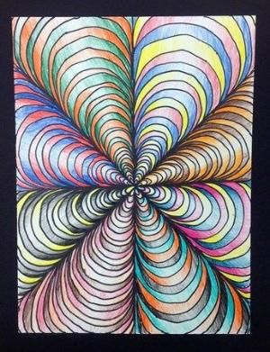 6th Grade-Op Art Kids would like doing this.  @DeMaris Henderson-Gaunt Henderson-Gaunt Henderson-Gaunt Henderson-Gaunt Cleland - thought of you! by carey