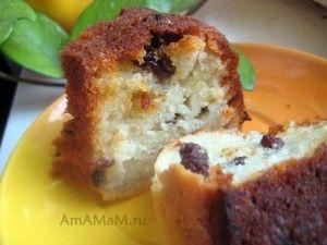 Рецепт творожного кекса с изюмом на раст. масле