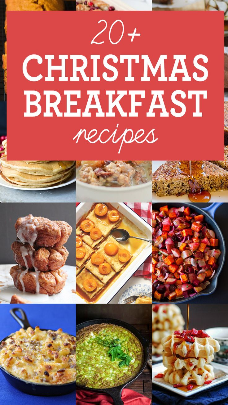 20+ Christmas Breakfast Recipes that are great to feed a crowd and make ahead