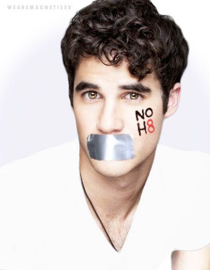 Darren Criss, Actor, for the NOH8 Campaign by Adam Bouska